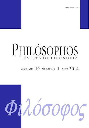 Visualizar v. 19 n. 1 (2014): Ética e Fenomenologia