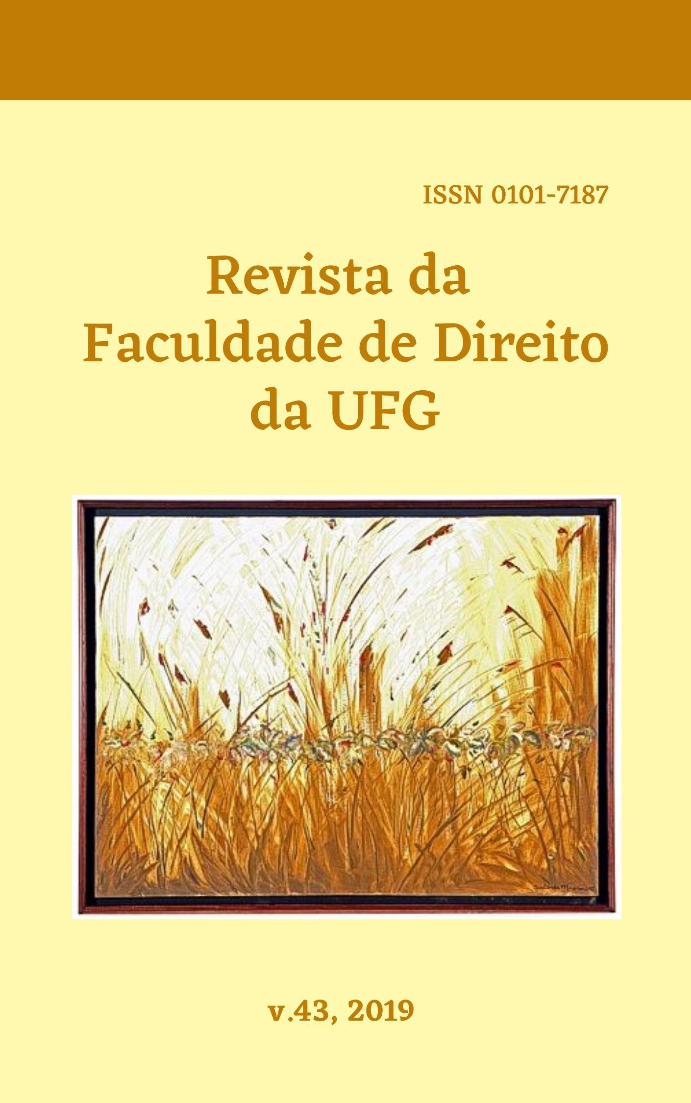 Visualizar v. 43 (2019): REVISTA DA FACULDADE DE DIREITO DA UFG