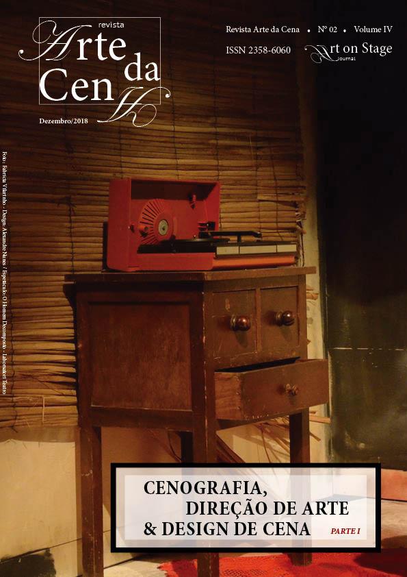 Capa Revista Arte da Cena, v.4, n.2 - Cenografia, Direção de Arte e Design de Cena